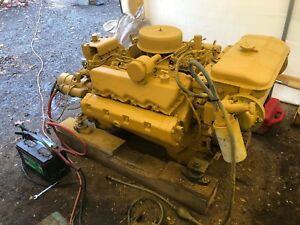 Caterpillar Cat 3208 Marine Diesel Engine With Twin Disc 502 Transmission