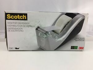 Scotch Desktop Tape Dispenser Silver Tech Two tone c60 st Pack Of 6