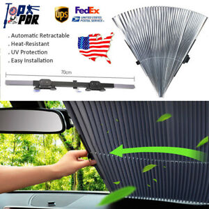 Us Retractable Car Front Window Sun Shade Visors Folding Windshield Block Covers