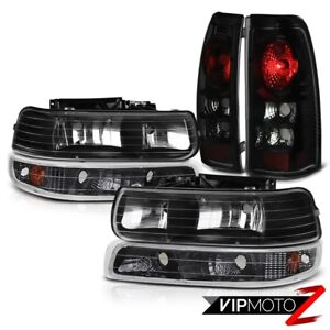 1999 2000 2001 2002 Chevy Silverado 1500 2500 Sinister Black Taillight Headlight