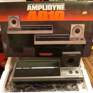 Nos Sparkomatic Amplidyne 4010 Car Speakers Dual Woofers Directional Tweeters