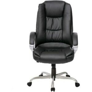 New Pu Leather High Back Executive Office Thick Arms Padded Computer Desk Chair