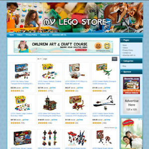 Lego Toys Kits Store Online Business Website For Sale Free Domain Hosting