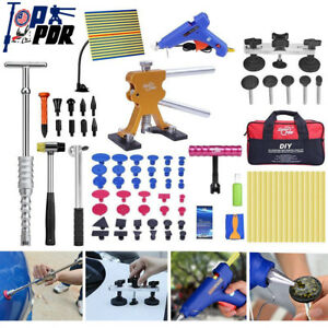 Pdr Tools Puller Dent Removal Kit Glue Tab Slide Hammer For Car Auto Body Repair