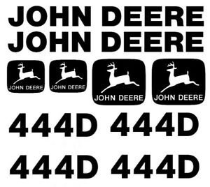 John Deere 444d Wheel Loader Decal Set Turbo Jd Stickers L k 4x4 3m Emblem