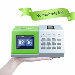 Zkteco Time Clock For Employee Fingerprint Time Recorder Without Installation