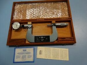 Tesa Isomaster 02 10604 Outside Micrometer W Dial Indicator 75 100mm