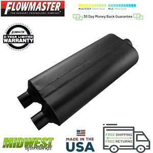 524703 Flowmaster 70 Series Muffler 2 25 Dual Inlet 3 0 Center Outlet