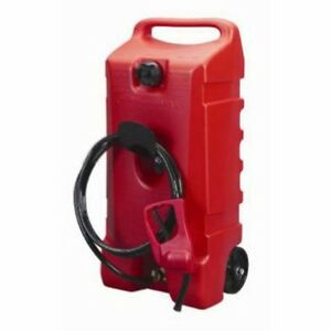 Industrial 14 gallon Rolling Gas Can And Flo N Go Le Fluid Transfer Pump