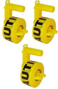 3 Stringliner 42020 1000 Yellow Caution Tape Dispensers W Roll Caution Tape