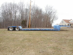 1992 Fontaine Double Drop 35 Ton Trailer 70 000 Lbs 22 5 48ft Fixed Neck