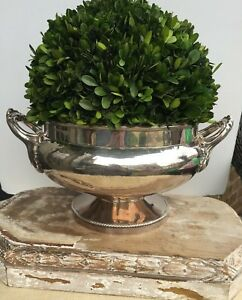 Antique English Silver Plate Cache Pot Planter Bowl