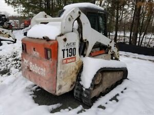2007 Bobcat T190 Compact Track Skid Steer Loader W Cab Joysticks Coming Soon