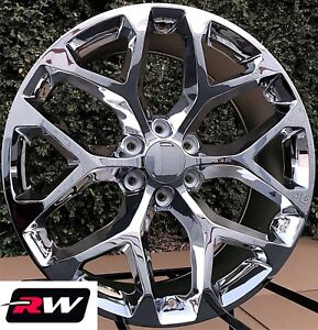 24 Inch 24 X10 Wheels For Chevy Tahoe Chrome Rims Ck156