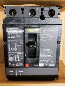 New In Box Square D Circuit Breaker Hjl36100c current Limiting 100a 3 Pole 600v