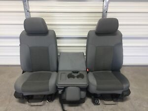 1999 2016 Ford F250 F350 F450 Super Duty Front Seats Gray Cloth