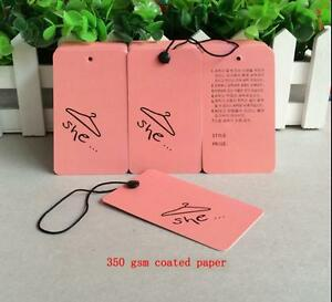 She Hang Tags 500pcs 350gsm Paper Clothes Jewelry Tags stock Tags Price Label