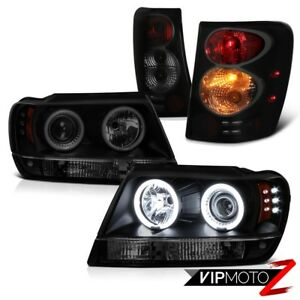 For 99 03 Jeep Grand Cherokee Wj Tinted Ccfl Halo Headlight Tail Signal Parking