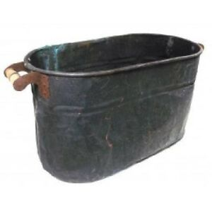 Antique Distressed Charred Copper Boiler Wash Tub Canning Tub