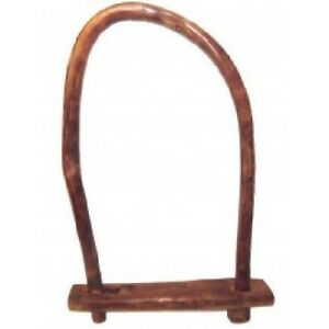 Antique Wooden Primitive Cattle Ox Goat Sheep Yoke Bow With Handmade Clasp