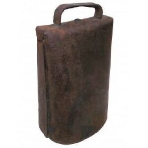 Antique Farm Primitive Handmade Cow Bell With Clacker 6 1 4 Inch