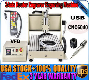 Cnc6040 Usb 3axis Router Engraver Engraving Machine handwheel Water cooling Vfd
