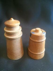 Vintage Little Wooden Perfume Or Scent Bottles