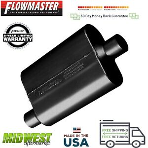42441 Flowmaster 40 Series Muffler 2 25 Offset Inlet 2 25 Center Outlet