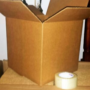 12x12x12 35 Corrugated Shipping Cardboard Boxes Plus 1 Clear Tape 2 X 110 Yards