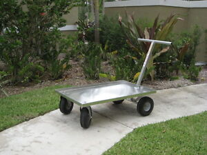 Push Wagon All Aluminum Push Cart All Purpose commercial Quality Made In Usa