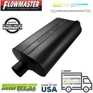 52557 Flowmaster Super 50 Muffler 2 5 Center Inlet 2 5 Offset Outlet