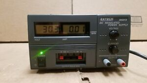 Extech 382213 Triple Output Power Supply 0 30v Good