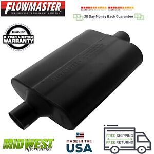 942445 Flowmaster Super 44 Muffler 2 25 Center Inlet 2 25 Center Outlet