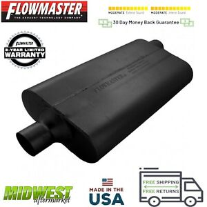 942452 Flowmaster 50 Delta Flow Muffler 2 25 Center Inlet 2 25 Offset Outlet
