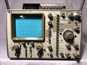 Hp 1725a Oscilloscope 275mhz W Time Interval Multimeter powers On
