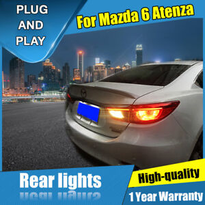 For Mazda 6 Atenza Red Led Rear Lamps Assembly Led Tail Lights 2014 2017