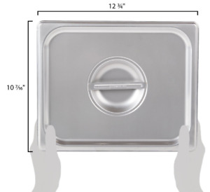 Pan Lid Food Cover Solid Steam Prep Table Indoor Kitchen Stainless Steel 12 Pack