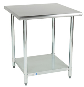 30 X 30 Prep Table Undershelf Backsplash Indoor Restaurant Stainless Steel