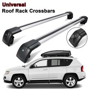 Roof Rack Cross Bar Smooth Side Rail Luggage For Land Rover Discovery Lr3