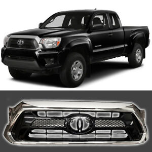 Fits For 2012 2015 Toyota Tacoma Front Grill Black Chrome Factory Style Grille