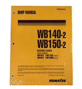 Komatsu Wb140 2 Wb150 2 Backhoe Service Shop Repair Manual Part Webd004601