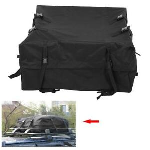 New Car Cargo Roof Top Carrier Bag Rack Storage Luggage Waterproof Rooftop Black