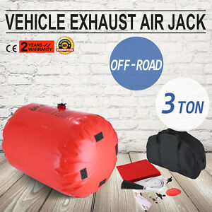 3ton Inflatable Exhaust Air Lifting Jack Ailpipe Off Road Kit High Tenacity