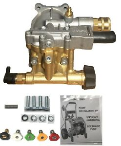 Bonus Tips Brass Head Horizontal Pressure Washer Pump Kit 3 4 excell Devilbiss