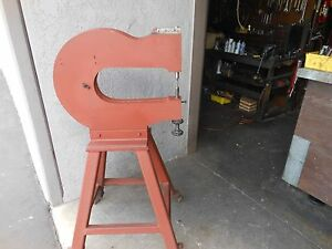 Rivet Squeezer Chicago Pneumatic Cp 450 Yoke On Portable Stand