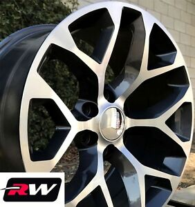 24 Inch Chevy Tahoe Factory Style Wheels Snowflake Rims Gunmetal Machined