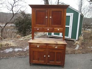 Early Stepback Cupboard Antique Step Back Kitchen Cabinet Delivery Available