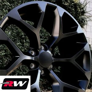 24 Inch 24 X10 Wheels For Chevy Tahoe Satin Black Rims Ck156