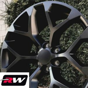 24 Inch 24 X10 Wheels For Chevy Tahoe Matte Black Rims Ck156