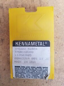 Kennametal Carbide Inserts Tpg322 Lot Of 7